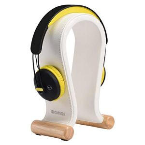 SAMDI Support Casque, Universel Support pour Casque – Cuir Socle pour Gaming Headse – Blanc