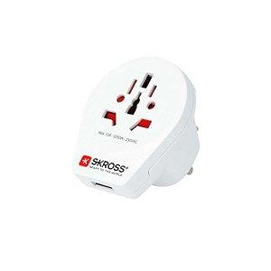 Skross 1500261 Adaptateur Prise d'alimentation Blanc