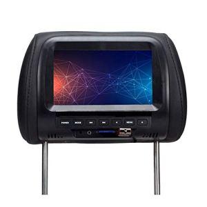 Spachy Moniteur Universel pour appuie-tête de véhicule 7 Pouces pour Lecteur DVD et Jeux vidéo, N° 0, Noir, Free Size