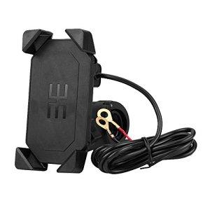 Support de moto, support universel pour téléphone portable réglable à 360 ° pour guidon de moto, support de montage GPS, chargeur USB, prise en charge du téléphone portable de 4,7 pouces à 6 pouces