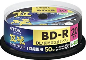 TDK Blu-ray Disc 20 Spindle – 50GB 4X BD-R DL – 2010 Printable Version