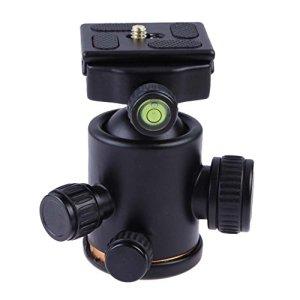 Tête de trépied pour appareil photo – Rotation fluide à 360 degrés – Rotule avec plaque de libération rapide pour trépied, appareil photo reflex numérique, caméscope
