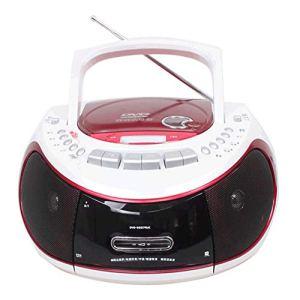 WMC Lecteur Audio DVD Portable CD, SD USB Lecteur Cassette Magnétophone électronique Article Lecteur MP3 Haut-Parleur Magnétophone