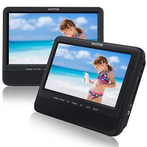 WONNIE 7.5 Pounce Lecteur DVD Portable Voiture Double Ecran avec de Puissants Haut-parleurs stéréo, Prise en Charge USB/SD/AV in/AV Out(1 Lecteur DVD et 1 Moniteur)