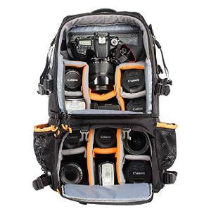 xhy Sac De Caméra Allemand Tar ION Sac De Caméra Haute Capacité Double éPaule Professionnel Multi-Fonction Alpinisme Extérieur Sac à Dos Simple Anti-Retour