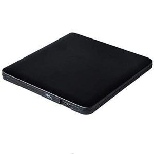 XZYP Lecteur DVD Ultra Externe, Graveur 3.0DVD USB Portable, Mouvement Neutre, Support: WINXP, Win7, WIN8, WIN10, Système Mac,Noir
