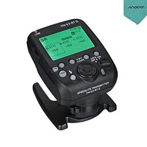 YONYNUO YN-E3-RT II on-Camera Flash Speedlite Émetteur Déclencheur sans Fil Compatible pour ST-E3-RT / 600EX-RT/YN-E3-RT / YN968EX-RT / YN600EX-RTII / YN686EX-RT / YNE3-RX + Chiffon en Andoer