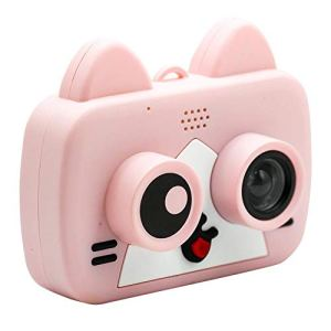 YOUDALIS Appareils Photo numériques Enfants HD 1200W Fun 2 Pouces Caméra Cartoon WiFi Sync téléphone Portable for Enfants Jouets éducatifs 1080P Projection vidéo Came (Color : Pink)