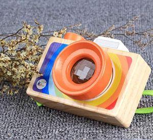 YOUDALIS Caméra de Bois de kaléidoscope Enfants Jouets éducation Magie kaléidoscope caméra Bande dessinée Classique for Jouet d'apprentissage bébé (Color : White)