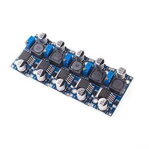 AngeEK LM2596S Lot de 5 modules d'alimentation DC Tension Tension Tension Tension DC 3,2-40 V 1,25-35 V Pour Arduino