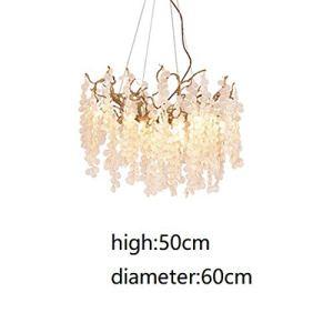 Cristal Hanglamp LED Suspension De Mode Cuivre Nordic Luminaires Salon Pendentif Lumières Chambre,Warmwhite,7