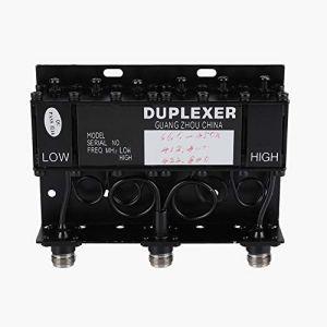 Denash Diplexeur duplexeur 6 cavités pour duplexeur UHF répéteur Radio 10W