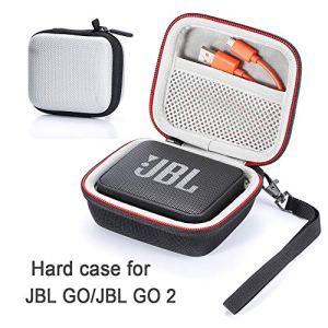 L3 Tech Étui pour JBL Go/JBL GO 2, étui de Transport Rigide pour JBL GO/JBL GO 2 Haut-Parleur Bluetooth sans Fil Portable (boîtier Seulement, Haut-Parleur et Accessoires Non Inclus) – Argent