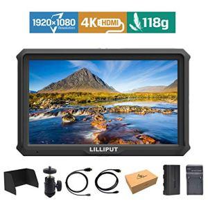 Lilliput A5 5 Pouce 1920×1200 IPS 441ppi Ecrans Moniteur Caméra Field Monitor 4K HDMI Video DSLR A7 A7R A7S III A9 A6500 GH5 G5s 5D IV Zhiyun Crane 2 M Ronin-S + Batterie