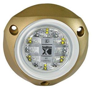 Lumitec‿SeaBlazeX Lampe LED pour Bateau sous-Marin, Montage en Surface, stroboscopique, fondu croisée, LTEC-101140, White Light Output