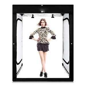 MDFGHJD Bandes à LED + 200X120x100cm Photo Softbox Prise de Vue Tente légère Soft Box pour modèle Body Portrait Apparel Photo Shooting