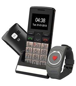 Mobiho-Essentiel Le CLASSIC TOP + MONTRE SOS – Téléphone portable senior . en utilisation classique ou en utilisation SOS seule, un mobile très complet et très pratique dédié au senior ayant un handicap préhension – DEBLOQUE TOUT OPERATEUR