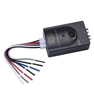 Mr.Ho Adaptateur convertisseur pour autoradio Haut-parleurs Enceinte Caisse vers ampli amplificateur