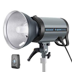 Neewer Flash Studio 600W GN82 Torche Vidéo Eclairage Continu avec Déclencheur sans Fil 2,4G et Lampe Pilote, Recycle en 0,01-1,2s Monture Bowens pour Photo Studio Portrait(Q600N)