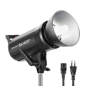 Neewer SK400II Flash Studio Strobe 400W, 2,4G sans Fil GN65 5600K Lampe Projeteur avec Monture Bowens Lampe Pilote 150W, Grand Panel LCD, Sortie Stable, Anti-Préflash pour Photo Vidéo Studio