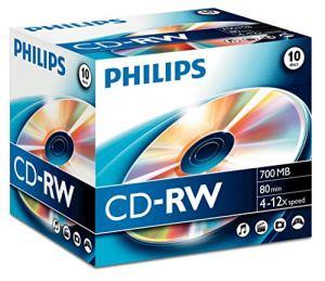 Philips 10 x CD-RW – 700 MB (80 Min) 4x – 12x – Speichermedium