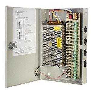 PhilMat Boîtier d'alimentation 12v 10a continue de canal 18CH pour la surveillance de la sécurité de caméra de surveillance