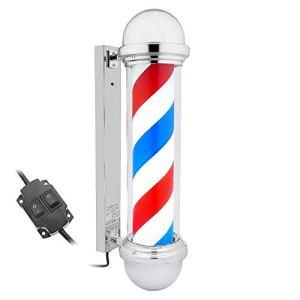 PrimeMatik – Poteau de barbier Lumineuse et pivotante pour coiffeurs 155 x 650 mm