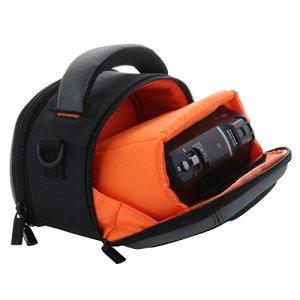 Smart-Planet Sac Housse Coque Dure pour caméscope avec poignée de Transport et bandoulière pour par Exemple Panasonic HC-V180 V777 – Sony HDR CX240E CX450 CX625, etc