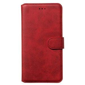 Tosim Coque Vivo Y15/Y17/Y12/U10/Y3, Portefeuille Étui en Cuir Synthétique Fonction Stand Case Housse Folio à Rabat Compatible avec Vivo Y15 – TOYYO080902 Rouge