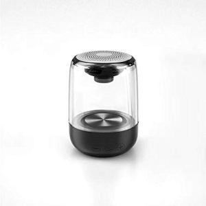 WAIY Haut-parleur Bluetooth sans fil avec cristal transparent changeant de couleur et lumières intégrées colorées, son stéréo HiFi, compact et portable, étanche et durable haut-parleur Bluetooth