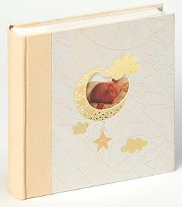 Walther ME-114 Album photo bébé avec pochettes «Bambini» personnalisable 10 x 15 cm Beige