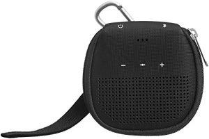 AmazonBasics Étui avec béquille pour enceinte Bluetooth Bose SoundLink Micro – Noir