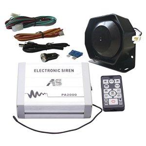 Comme 100W Police Siren Bundle Pa2000e-spk00213pièces Lot de 20tons 12V avec boîte de sirène Haut-parleur sans fil à distance Micro ajustement pour Différentes Vehilces