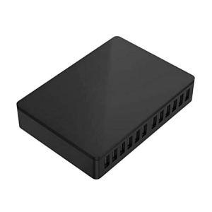 DONGBALA Chargeur de Bureau pour Chargeur de Bureau à Station de Chargement USB 12 Ports pour périphériques Multiples (Noir)