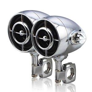 Harley Lourd Haute Puissance Moto Audio stéréo étanche, 12V Caisson de Graves Modified galvanoplastie Haut-parleurs Salut-FI Audio MP3 / WMA USB/AUX Bluetooth pour Moto, Marine