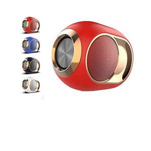 Haut-Parleur doré – Haut-Parleur sans Fil Haut de Gamme, 108 DB Stéréo Golden Egg Lecteur de Haut-Parleur sans Fil Bluetooth Super Strong Son stéréo amélioré Bass Super Strong Subwoofer (rouge1)