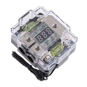 Homyl Bloc de Distribution Répartiteur Audio Haut Parleur de Voiture Processeurs multicanal – 100A 2 Voies
