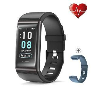 JREAR Montre Connectée Bracelet Tracker d'Activité avec Cardiofréquencemètre Podomètre Calories Moniteur de Sommeil,Tension Artérielle Smartwatch IP68 Etanche Sport Smart Watch