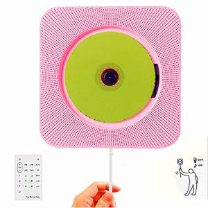 Keeda, lecteur CD, Boombox Bluetooth murale, audio domestique portable avec télécommande, radio FM, haut-parleurs HiFi intégrés, interrupteur à tirette de câble, lecteur MP3 USB