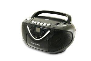 Metronic 477131 Radio CD MP3 avec Lecteur Enregistreur Cassette