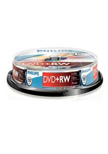 Philips DVD + RW 4.7 GB 4 x Data/120min DVD+RW 10er Spindel