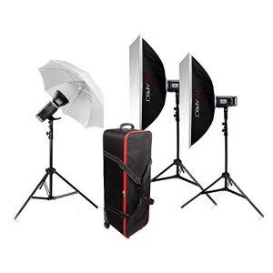 Pixapro® – Stroboscope portable CITI600 – 600W – Sans fil – Rechargeable – Flash manuel – Compatible avec GN 87 – Idéal lors de grands événements