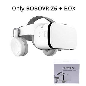 QHAI VR Lunettes de réalité virtuelle Casque, pour iOS/Android Smartphone Goggles, Z6 sans Fil Bluetooth Édition,Blanc