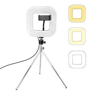 Ring Light,Selfie Ring Light, XWJ-D21C Dimmable LED Place lumière avec trépied Net Red Live Fill Light Support téléphone, Beauty LED Ring Light