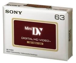 Sony – Digital Video-Kassette, High Definition DV, 63 Minuten