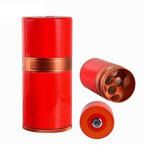 TYX Boîte à cigares, Cave à cigares Portable, Accessoires Cigare pour 7 Cigares hygromètre