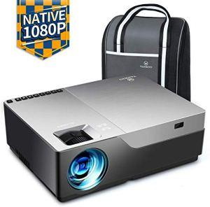 Videoprojecteur, Vankyo 6500 Lumens Rétroprojecteur 1920x1080P Full HD Mini Video Projecteur Portable Son HiFi Stereo, HDMI VGA AV USB pour Home Cinéma& Présentation PPT