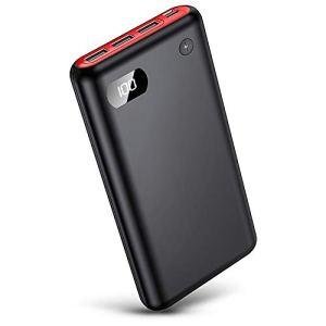 YUKOIE Batterie Externe 26800mAh, 【2019 Dernier Modèle】 Power Bank avec écran LCD Haute Capacité Chargeur Portable avec 3 USB Ports Compatible Tous Smartphones Tablettes USB Via Device …