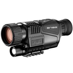 8×40 Vision Nocturne Monoculaire Caméra Numérique Infrarouge HD avec Lecture vidéo Fonction de Sortie USB pour la Chasse et la Faune 150m dans l'obscurité 8G Carte TF