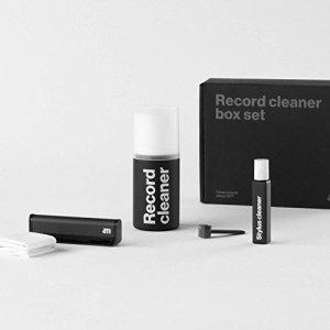 AM CLEAN SOUND Liquide Nettoyage Vinyle + 2lingettes + Liquide de Nettoyage Stylet + Brosse pour LP + Spazz.Stylet